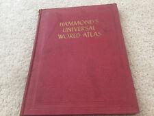 Hammond'S 1945 World Atlas Book Hammonds C.S. Hammond And Company