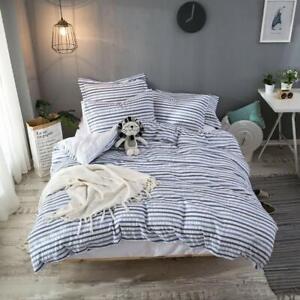 Hibertex 100% Cotton Seersucker Quilt Cover Set Textured Bedding Doona Cover Set