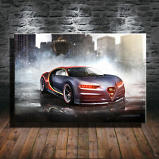 Collect Art Print Oil Painting on Canvas Wall Decoration,Bugatti-Chiron-Superman