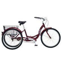 """Schwinn Meridian 26"""" 3 Wheel Bicycle Trike Adult Tricycle Bike  Cherry Red New"""