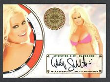 "BENCH WARMER ""VEGAS BABY"" 2012 Autograph Card Signed by CECILLE GAHR"