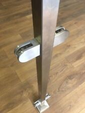 Square Stainless Steel Balustrade Posts- No Top Rail Marine Grade 316