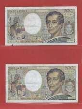 Lot de 2 x 200 FRANCS MONTESQUIEU de 1990 ALPHABETS   R.084  C.085