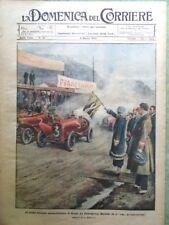 La Domenica del Corriere 8 Marzo 1925 Automobilismo De Lucia Bossi Tripoli Roma
