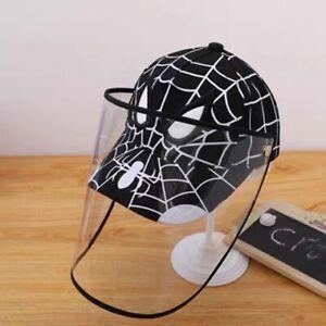 Children Kid Cap Shield Mickey Frozen Minnie Mouse Baseball Cap Face Cover