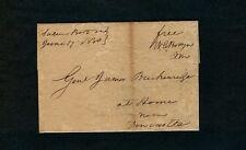 """Salem Bot Va June 17 1830"" Botetourt to Gen James Breckenridge w/Surveyor's Map"