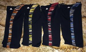 ADIDAS Linear Movement Black Yellow Blue Orange or Red Jammer Swim Suit Mens 30