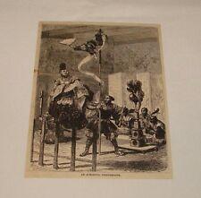 1880 magazine engraving ~ AN ACROBATIC PERFORMANCE, Japan