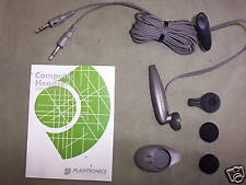 Plantronics Computer Ear piece Headphone / Clip On Mic Mic Skype Headset OM0800