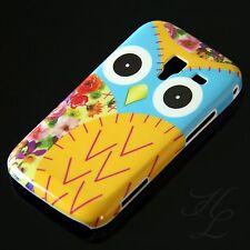 Samsung Galaxy Ace 2/i8160, funda rígida móvil, funda protectora, funda, protección estuche lechuza amarillo Owl