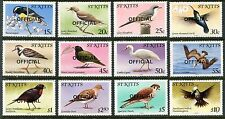 St Kitts O11-O22 OFFICIAL MNH Birds 1981: Caribs, Banana-quit, Thrasher,  x11678