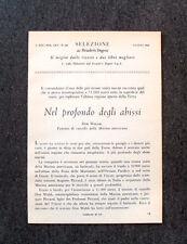 AR19 - Clipping-Ritaglio - 1960 - DON WALSH , NEL PROFONDO DEGLI ABISSI