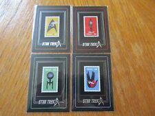 2017 Star Trek 50th Anniversary Complete 4 Card Commemorative Stamp Set S1-S4