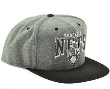 BROOKLYN NETS Mitchell & Ness NBA Snapback Hat - Gray 2 Tone Cap