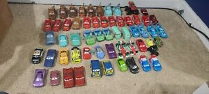 LARGE lot 58 Disney Pixar Cars Diecast and Plastic Cars Mator McQueen and more