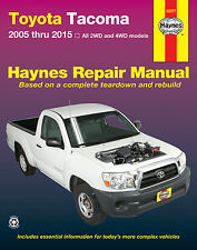 Toyota Tacoma 2005-2015 Haynes Repair Manual covering all models #92077