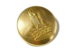 c1900 Gilt Brass Livery Button Swan Duck Goose Head from Crown 25mm #L7