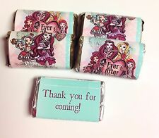 50 EVER AFTER HIGH MINI CANDY BAR WRAPPERS PARTY FAVORS