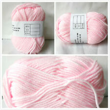 2019 Crochet Soft Bamboo Cotton Knitting Yarn Baby Natural Wool Yarn Pink