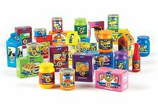 Alphabet Groceries Toy A to Z LearningLetters Kids Toddlers Play Food Box New