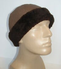 NEW! Handmade Sheepskin Beanie Unisex Hat Real Leather size M * DISCOUNTED! *