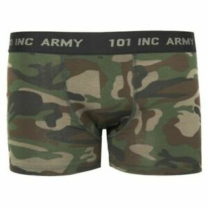 Camouflage Boxer Shorts 3-Color Woodland Camo Body Style Knickers Boxer GR S-XXL