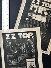 "Zz Top Two 1973 Original 11X14� Album Release Ads For ""Tres Hombres�"