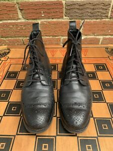 Cole Haan Men 9.5 M Zerogrand Wing Tip Boot Chukka Black Water Resistant C23299