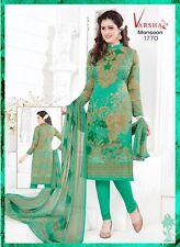 Unstitched Salwar EDH Kameez Punjabi Suit Indian Designer Pakistan V1770