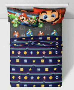 Target 4 pc Nintendo Super Mario Full Sheets Set NEW Kids Soft Bedding