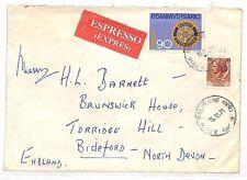 UU296 1971 Italy North Devon GB Cover {samwells-covers}