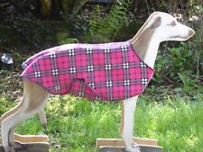 WHIPPET / LURCHER   FLEECE COAT /JUMPER WITH BELLY PANEL  14'' TO 26' ,NEW