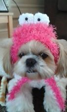 handmade pink furry fluffy cookie monster hat for pet dog small size pet hat