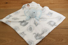 8f392da154 Blankets   Beyond Baby Boy Security Blanket ~Elephants   Owls~White