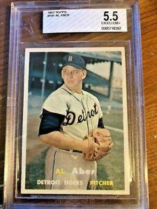 1957 Topps Baseball Card #141 Al Aber BVG 5.5