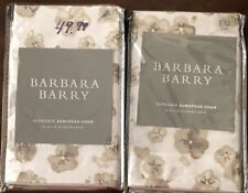 Barbara Barry Euphoria Bloom Euro Pillow Shams(PAIR)-Shadow-MSRP $120-NIP