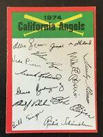 CALIFORNIA ANGELS 1974 TOPPS BASEBALL RED CHECKLIST MARKED