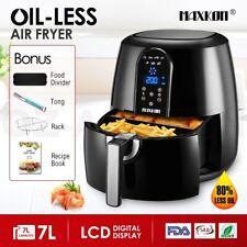 Maxkon New 7L Air Fryer Health Cooker Low Oil Rapid Deep Frying LCD 1800W Black