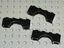 3 x Lego Black Brick Arch 1x4 ref 3659 / set 5986 6085 6285 6285 6066 6079 6097