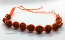RUDRAKSHA RUDRAKSH RAKHI BEADS BRACELET NEPAL HAND MADE YOGA SHIVA ADJUSTABLE OM