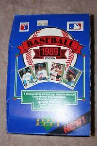 1989 Upper Deck Low Numbers Baseball Hobby Wax Box- 36 Sealed Packs- Griffey Jr.