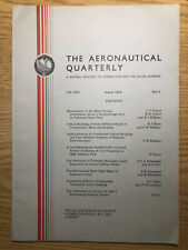 The Aeronautical Quarterly (Royal Aeronautical Society Journal) RARE Aug 1974