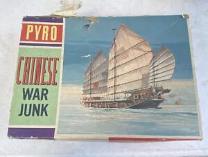 pyro chinese war junk plastic hobby craft kit model ship vintage
