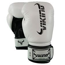 Viking Norse King Boxing Gloves - Vintage White/Black 12oz