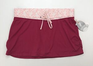 Lucy Activewear Wade it out Water Skort Skirt Pink Size Large New with Tags
