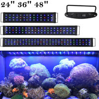 "LED Aquarium Light Full Spectrum Lamp Multi-Color Fish Tank Plant Marine 24""-48"""