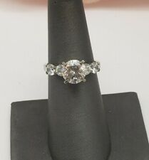 Engagement Ring Size 7 Sterling Silver And Clear Cz