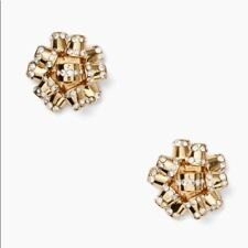 KATE SPADE EARRINGS! Pave Bourgeois Studs in GOLD! NWT/Dustbag :)
