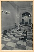 1930s Lithograph Advertising Postcard; Ferragamo Shoe Display Firenze Italy RARE