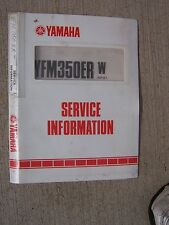 1988 Yamaha YFM350ER W Motorcycle Service Information Manual Exploded Diagrams T